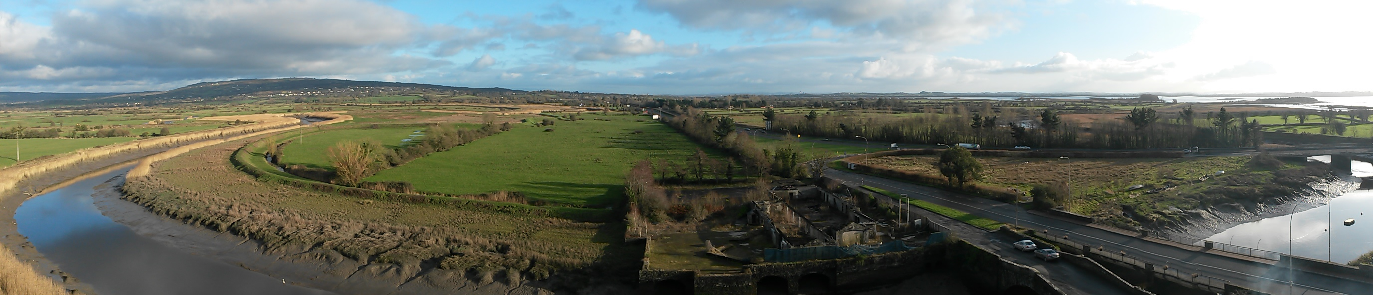 The views of Ireland from the top of Bunratty Castle