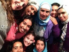 The families in the village are typically large, as was the case with the family that Emma Sikora Paulus and I stayed with for our week in the village. Pictured from left to right (top row) me, Hnan, mama, Seham, Samara (second row) Hooda (last row) Rhyzlan, Emma and Zhor. Not pictured are Boutsa, Mohammed and baba.