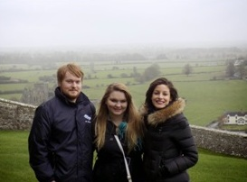 Standing on the Rock of Cashel, which had gorgeous veiws