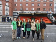 Some of my roommates and me on St. Patrick's Day in Dublin, Ireland